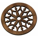 Ροζέτα ξύλινη από Σαπέλι 45mm.