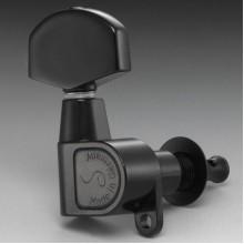 Κλειδιά ηλεκτρικής και ακουστικής κιθάρας SCHALLER M6 Black Chrome 3L + 3R 10010423