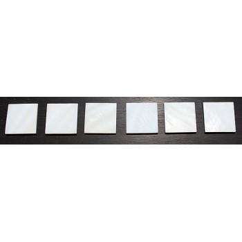 Όστρακα σε κομμάτια White pearl shell 25 x 25 x 2mm.