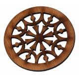 Ροζέτα ξύλινη από Αγριοαχλαδιά 110mm x 110mm.