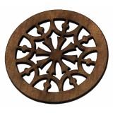 Ροζέτα ξύλινη από Σαπέλι 110mm.