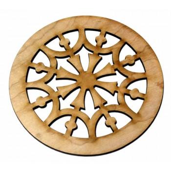 Ροζέτα ξύλινη από Σφενδάμι 110mm.