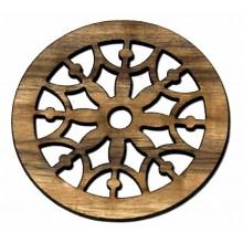 Ροζέτα ξύλινη από Zebrano 110mm.