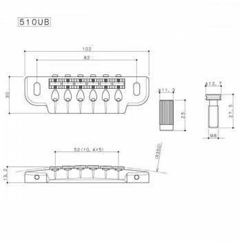 Γέφυρα ηλεκτρικής κιθάρας Gotoh 510UB-GG.