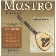 Σετ χορδές Mastro Silver plated για Κρητικό Λαούτο.
