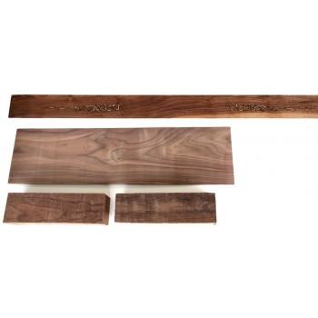 Σετ ξυλείας Καρυδιάς Αμερικής για σκάφος Ποντιακής Λύρας.