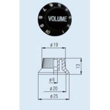 Volume Knob KPV-13 Fender style ST.