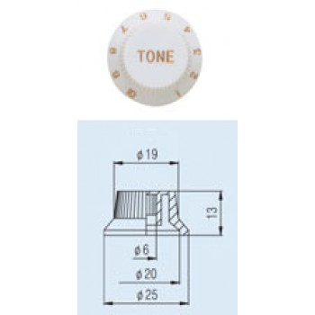 Tone Knob KPT-15 Fender style ST.