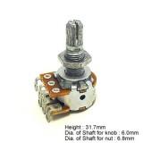 Ποτενσιόμετρο Hosco VR-126W250 balancer pot 250K.
