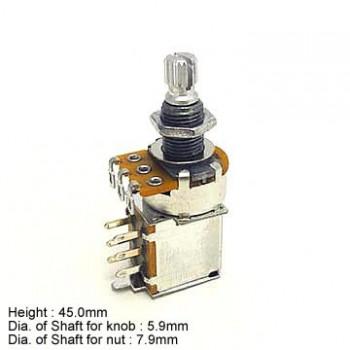 Ποτενσιόμετρο Hosco PUSH-500A push pull pot 500K A type.
