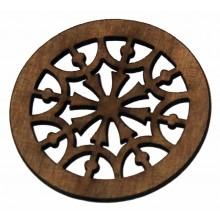 Ροζέτα ξύλινη από Σαπέλι 65mm.