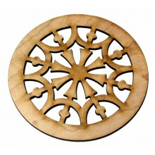 Ροζέτα ξύλινη από Σφενδάμι 65mm.