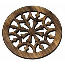 Ροζέτα ξύλινη από Zebrano 65mm.